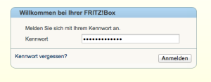 FritzBox Login-Page