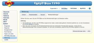 FritzBox: Werkseinstellungen