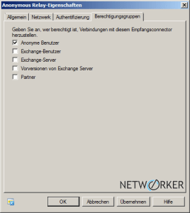 Connector: nur Anonym