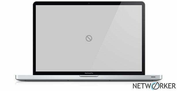 Mac OS Verbotsschild
